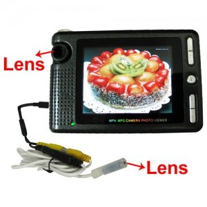 2.5 Inch LCD Screen Wired Extension Mini Spy Camera DVR